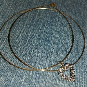 Jewelry - 14k solid gold wire necklace with diamond heart